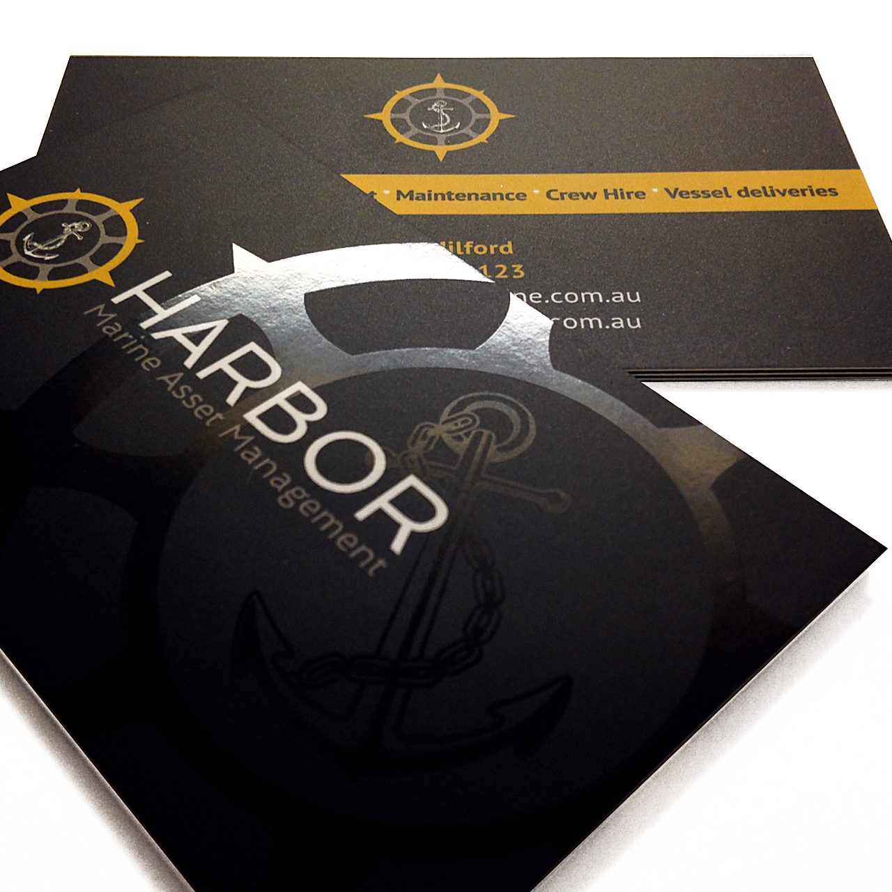 Harbor marine business cards north coast signs harbor marine business cards colourmoves